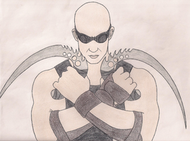Sketchbook Page 49: Riddick by DRAGONLOVER101040