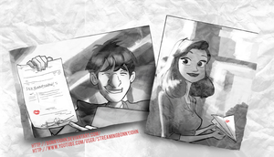 Paperman Valentine's Day Art 2013! w/ Speed Paint by BonnyJohn