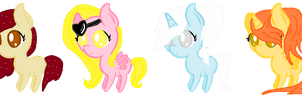 CHIBI PONY POINT ADOPTS (CHEAP PRICES) *CLOSED* by LouisaPonyArtist