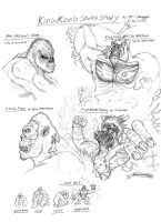 King Kong Sketch Study by RenDragonClaw
