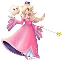 Rosalina and Luma: Pink is Love by Pixilette-Star