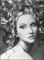 Woman with curly hair by Melissa2000