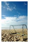 soccer by the beach by input-output