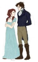 Lizzie and Mr Darcy by InarticulateBumble