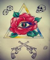 Triangle tattoo design by Arsenid
