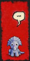 "Triceratops Says ""Wub"" by ursulav"