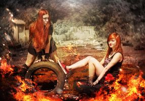 Redheads on Fire by MD-Arts