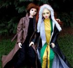 Rogue and Gambit dolls by ciarda927