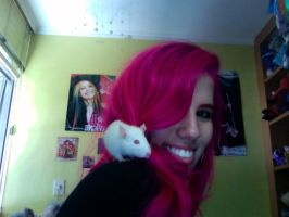 Me and my cute rat by kirarachan