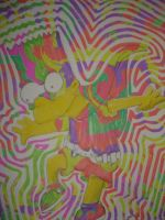 bart simpson in color by bunnyminority