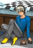boy with music by iamFUN