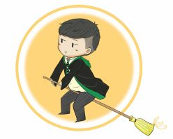 Mr. Lu in Slytherin uniform by OwOneverever