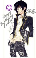 Happy birthday Lelouch by scarlet-glow