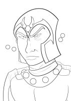 Master of Magnetism [LINE ART] by DarksiderXZero