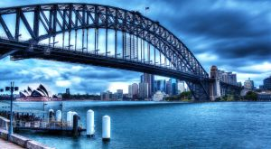 Sydney Harbour Bridge Stormy by CMOSsPhotography