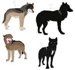Wolf/Canine Adoptables (OPEN) by Lynnzl