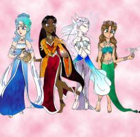 4 Goddesses by Rhea-Batz