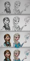 Tutorial/Step-by-Step of Frozen Painting by nataliebeth