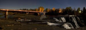 Kakabeka Falls at Night by ScaryFast
