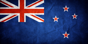 New Zealand Grungy Flag by think0