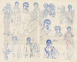 HUGE Nightcrawler Sketchdump by Violette-Aner