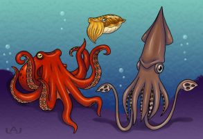 My Tentacled Friends by Red-Flare