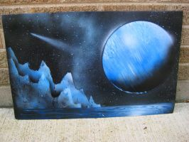 Large Speed Spray Painting by Christine-Eige