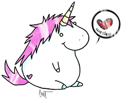 Fat Unicorn. by Kitten-Whiskerz
