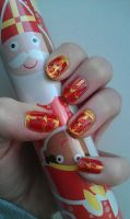 sinterklaas nail art by ras-blackfire