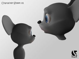 """""""milo the mouse"""" - WIP 1 by B3Ns"""