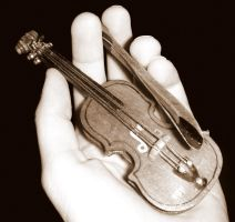 The Worlds Smallest Violin.. by Insanityisthefuture