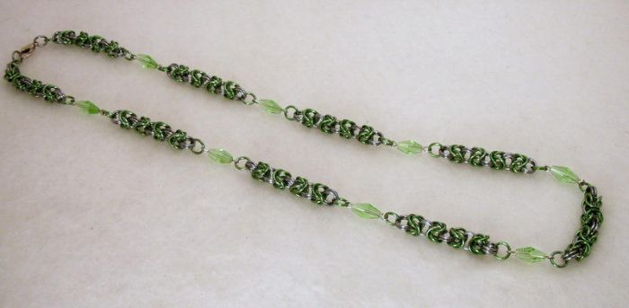 Chainmaille necklace by typhoid-lori