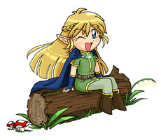 Chibi Elf by midwaymilly