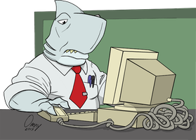 Office Sharks 01 by Omny87