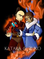Zuko and Katara by nikkigurlie89