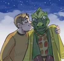 smooch for lizard by Kethavel
