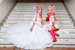 ChibiMoon and Young Lady by Mitsuno-Queen-Sonoko