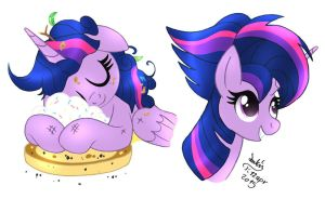MLP FIM - Twilight Sparkle Cute Mane by Joakaha