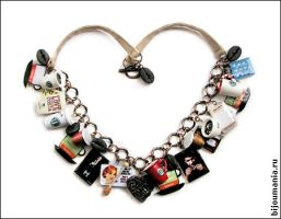 Necklace 'Coffee Addict' by allim-lip