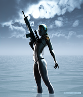Sniper Wolf - Pin-up by alltheoriginalnames