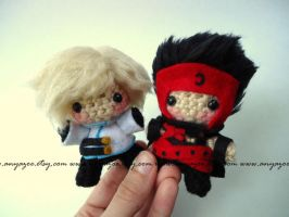 Kurogane and Fai Amigurumi by AnyaZoe
