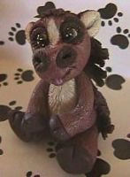 polymer clay horse charlie by crazylittlecritters