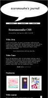 For Scaramoushe: Journal CSS by Anjellyjoy