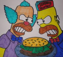 The Simpsons - Homer and Krusty Burger Wars by Toad-x-Yoshi-x-Peach