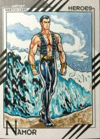 Namor Marvel Fleer 2015 by shaotemp