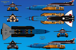 Thunderbird-1, 2, and 3 Link-up by haryopanji