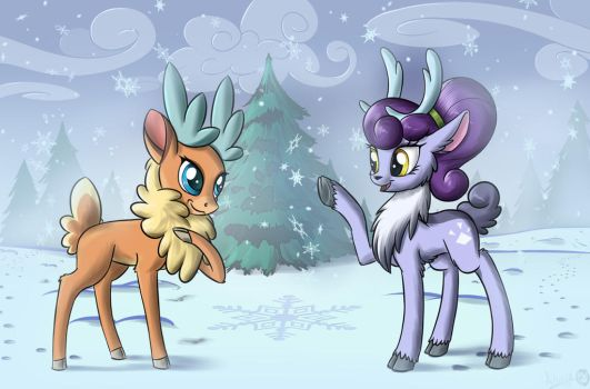 Meeting in the winter by Sirzi