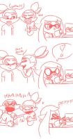 North Pole vs South Pole by puppycatcereal