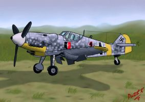 Messerschmitt Bf-109G by PatchKatz
