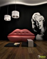 Marilyn Monroe room.... by aspa1984